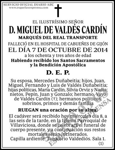 Miguel de Valdes Cardín